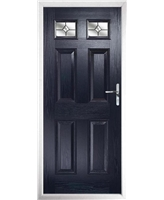 The Ipswich Composite Door in Blue with Crystal Bohemia