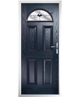 The Derby Composite Door in Blue with Blue Crystal Bohemia