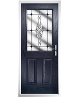 The Farnborough Composite Door in Blue with Blue Crystal Bohemia
