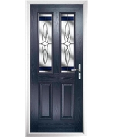 The Cardiff Composite Door in Blue with Blue Crystal Harmony