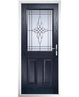 The Farnborough Composite Door in Blue with Crystal Harmony Frost
