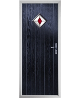 The Reading Composite Door in Blue with Red Diamond