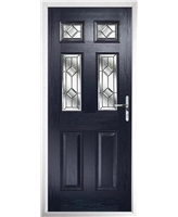 The Oxford Composite Door in Blue with Simplicity
