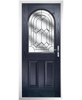 The Edinburgh Composite Door in Blue with Simplicity