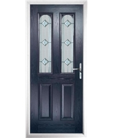 The Aberdeen Composite Door in Blue with Simplicity