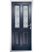 The Cardiff Composite Door in Blue with Simplicity