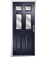 The Oxford Composite Door in Blue with Classic Glazing