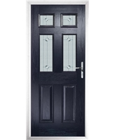 The Oxford Composite Door in Blue with Jewel