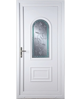 Epsom Diamond Green Border uPVC Door