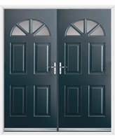 Carolina French Rockdoor in Anthracite Grey with Glazing
