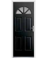 Ultimate Carolina Rockdoor in Onyx with Clear Glazing
