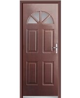 Ultimate Carolina Rockdoor in Rosewood with Clear Glazing