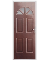 Ultimate Carolina Rockdoor in Rosewood with Glazing