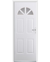 Ultimate Carolina Rockdoor in White with Clear Glazing