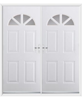 Carolina French Rockdoor in White with Clear Glazing