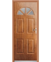 Ultimate Carolina Rockdoor in Light Oak with Gluechip glazing