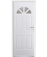 Ultimate Carolina Rockdoor in White with Gluechip Glazing