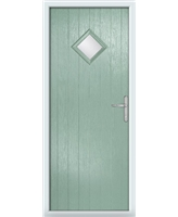 The Reading Composite Door in Green (Chartwell) with Glazing