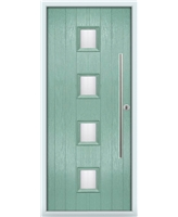 The Leicester Composite Door in Green (Chartwell) with Glazing