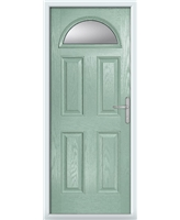 The Derby Composite Door in Green (Chartwell) with Glazing