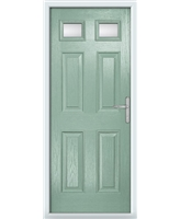 The Ipswich Composite Door in Green (Chartwell) with Glazing
