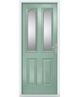 The Aberdeen Composite Door in Green (Chartwell) with Clear Glazing