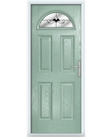 The Derby Composite Door in Green (Chartwell) with Black Crystal Bohemia