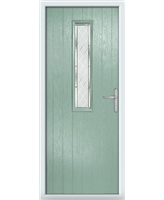 The Sheffield Composite Door in Green (Chartwell) with Diamond Cut