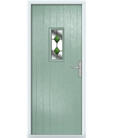 The Taunton Composite Door in Green (Chartwell) with Green Diamonds