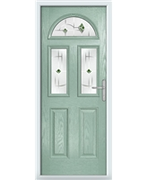 The Glasgow Composite Door in Green (Chartwell) with Green Murano