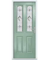 The Aberdeen Composite Door in Green (Chartwell) with Crystal Diamond