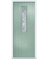 The Sheffield Composite Door in Green (Chartwell) with Zinc Art Abstract
