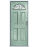 The Derby Composite Door in Green (Chartwell) with Green Daventry
