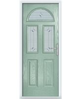 The Glasgow Composite Door in Green (Chartwell) with Jewel