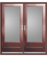 Classic French Rockdoor in Rosewood with Clear Glazing