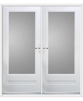 Classic French Rockdoor in White with Clear Glazing