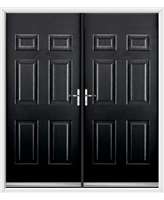 Colonial French Rockdoor in Onyx Black