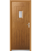 Ultimate Cottage Spy Rockdoor in Irish Oak with Clear Glazing