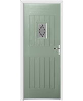 Ultimate Cottage Spy Rockdoor in Chartwell Green with Diamond Lead