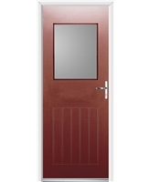 Ultimate Cottage View Rockdoor in Ruby Red with Clear Glazing