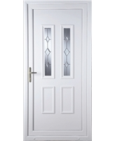 Irvine Star Cut Bevel uPVC Door
