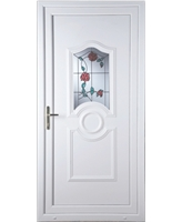 Johnstone Trailing Rose uPVC High Security Door