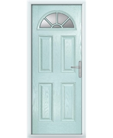 The Jamestown Composite Door in Blue (Duck Egg) with Clear Glazing