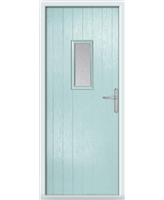 The Taunton Composite Door in Blue (Duck Egg) with Glazing