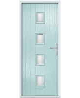 The Uttoxeter Composite Door in Blue (Duck Egg) with Glazing