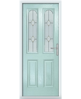 The Aberdeen Composite Door in Blue (Duck Egg) with Classic Glazing