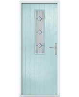 The Sheffield Composite Door in Blue (Duck Egg) with Simplicity