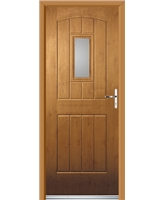 Ultimate English Cottage Rockdoor in Irish Oak with Clear Glazing