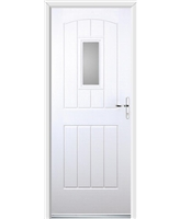 Ultimate English Cottage Rockdoor in White with Clear Glazing
