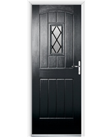 Ultimate English Cottage Rockdoor in Onyx with Diamond Lead